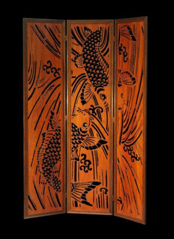 Ideen aus Holz design raumteiler muster