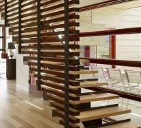 30 Raumteiler Ideen aus Holz verleihen eine natürliche Note
