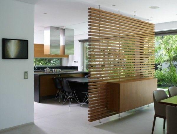 raumtrenner Ideen aus Holz design raumteiler wohnen