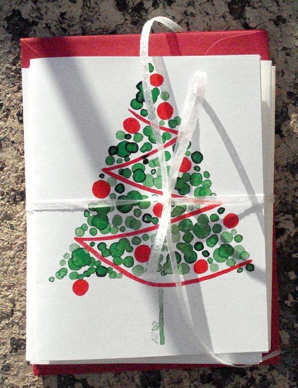 1001 sch ne weihnachtskarten selber basteln