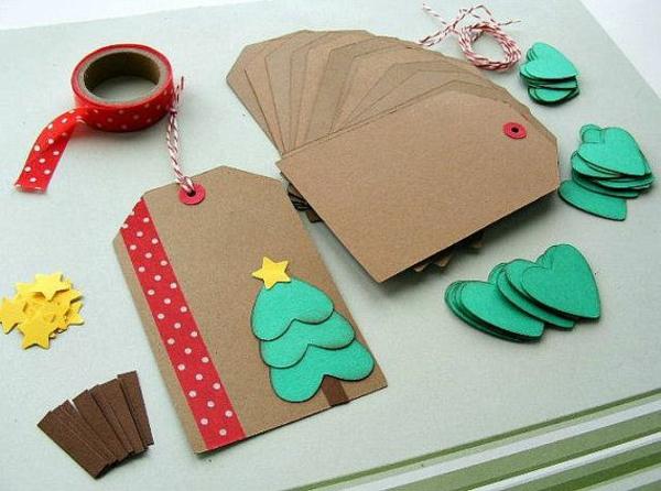 Schöne pappe Weihnachtskarten selber basteln