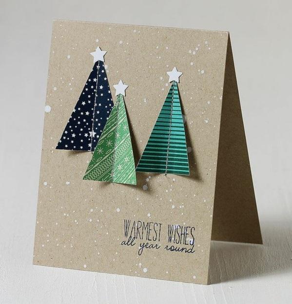 Uberlegen 100 Schöne Weihnachtskarten Selber Basteln ...