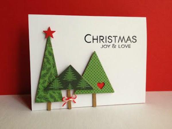 Weihnachtskarten selber basteln christbaum