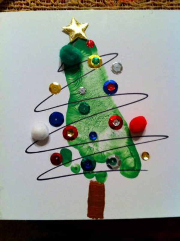 Schöne Weihnachtskarten selber basteln design