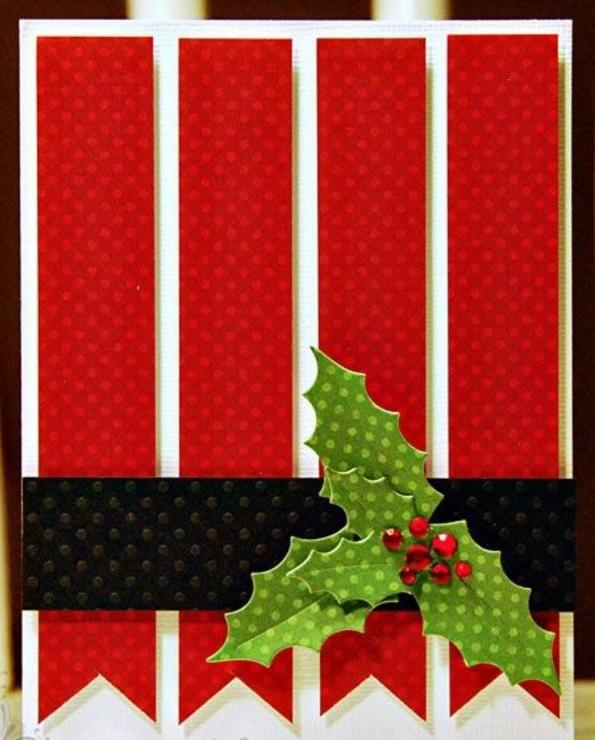 Schöne Weihnachtskarten selber basteln festlich farben