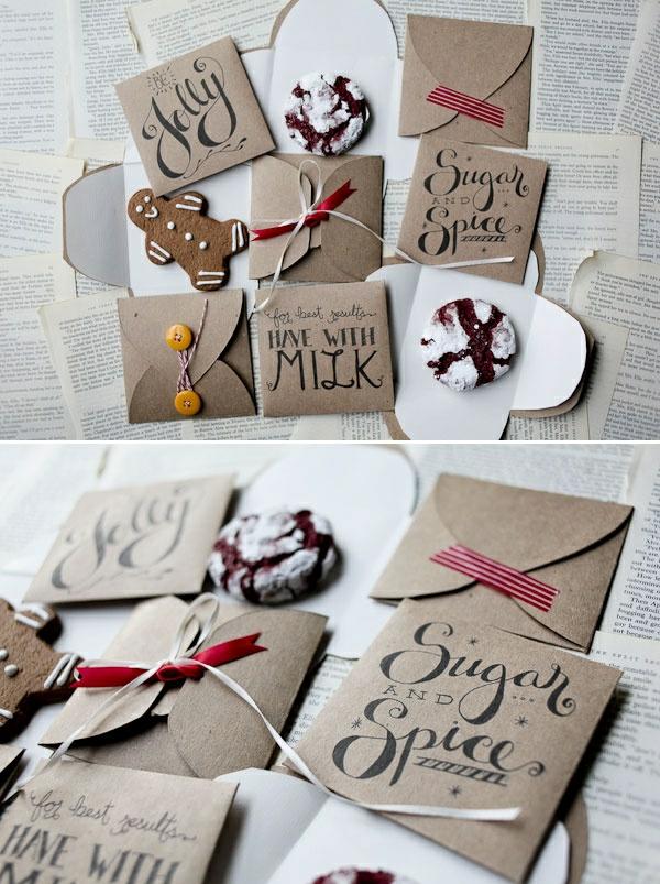 Schöne Weihnachtskarten selber basteln niedlich
