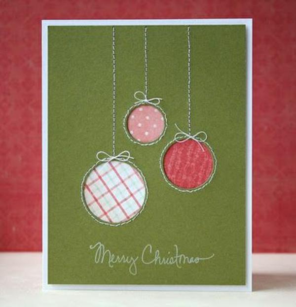 Weihnachtskarten selber basteln winter feiertage