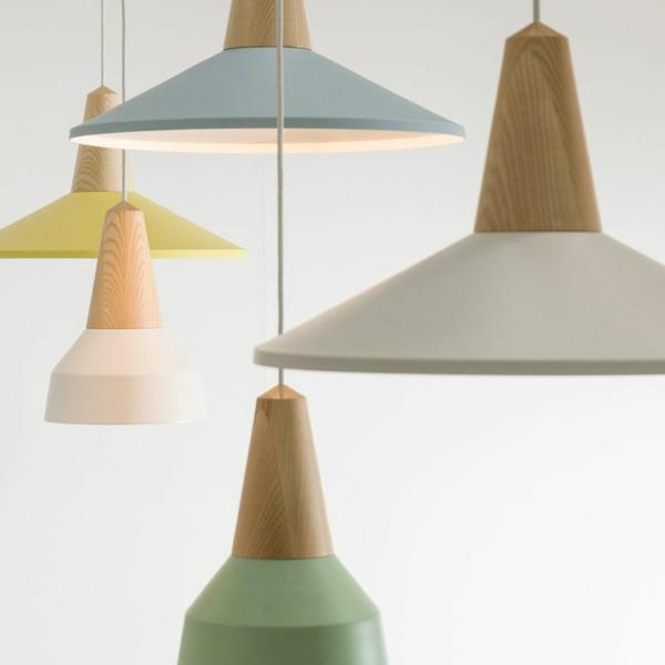 Schneid design pendelleuchten esszimmer einrichten pastellfarben