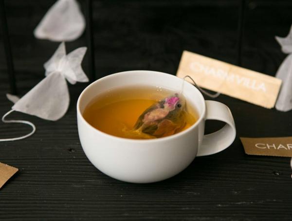 goldfisch teebeutel färben Teeeier geschmackvoll