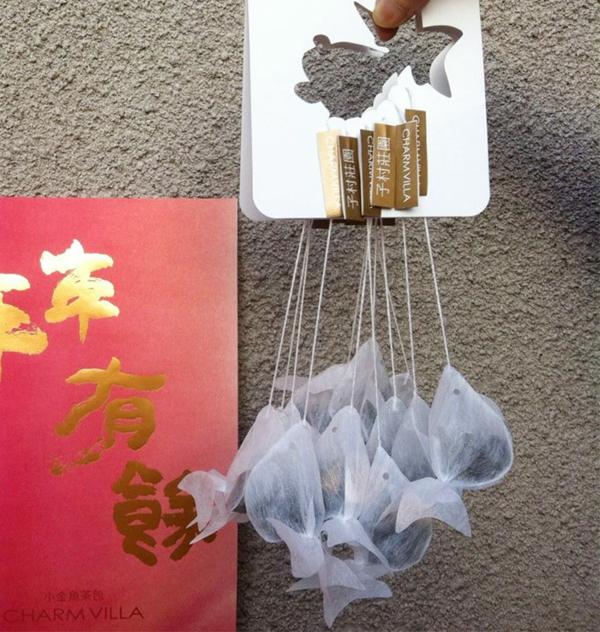 Teeeier goldfisch teebeutel färben taiwan unternehmen