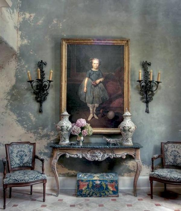 Wandgestaltung Farbe wände gestalten bilderrahmen