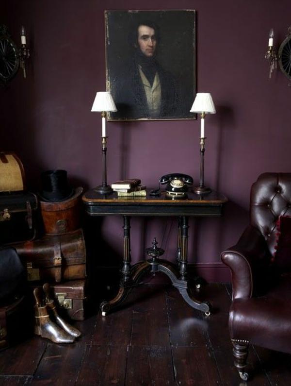 Wandgestaltung mit Farbe wände gestalten dunkel purpurrot