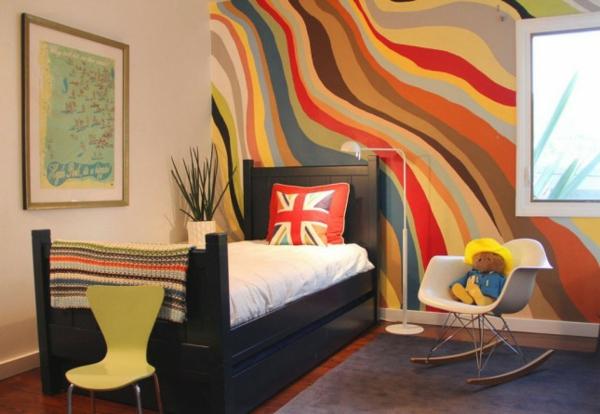 Tolle Wandgestaltung Farbe wände gestalten grün