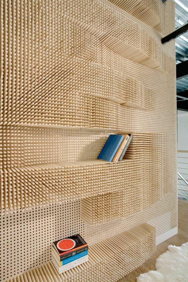 stangen designer Wandgestaltung mit Farbe wände gestalten holz striche