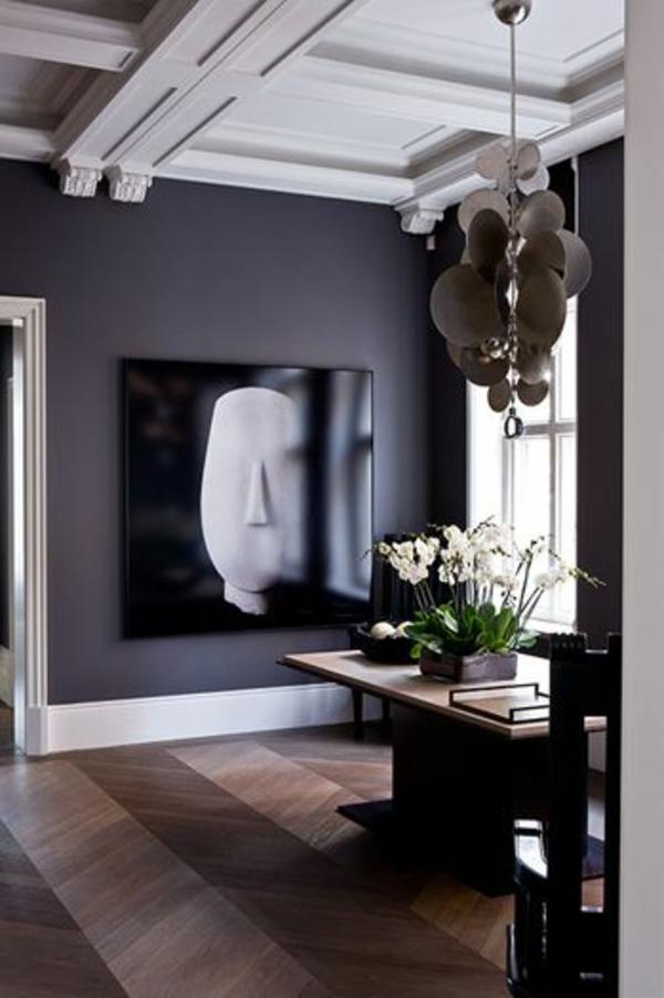 grau Wandgestaltung mit Farbe wände gestalten kunst