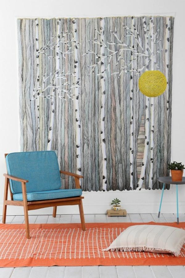teppich sessel Wandgestaltung mit Farbe wände gestalten natur muster