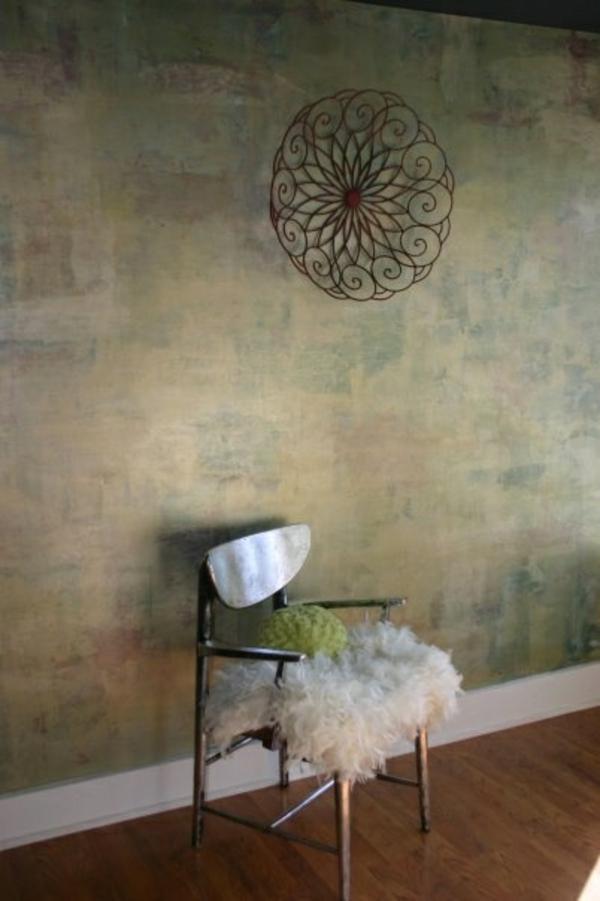 Wandgestaltung mit Farbe wände gestalten nuancen vermischt