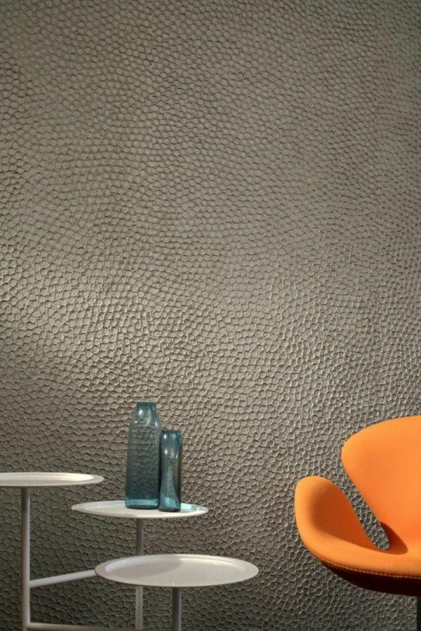 Wandgestaltung mit Farbe wände gestalten orange sessel