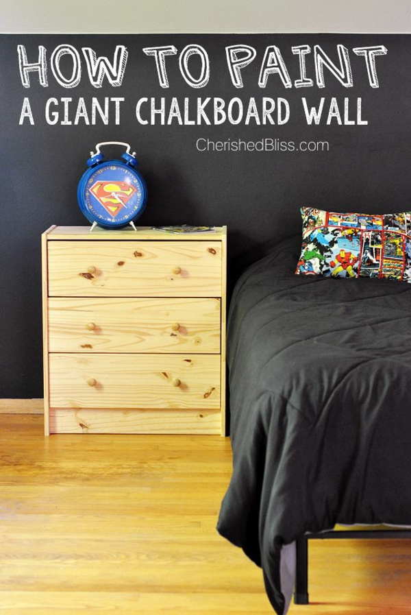 Tolle Wandgestaltung Farbe wände gestalten schreibtafel