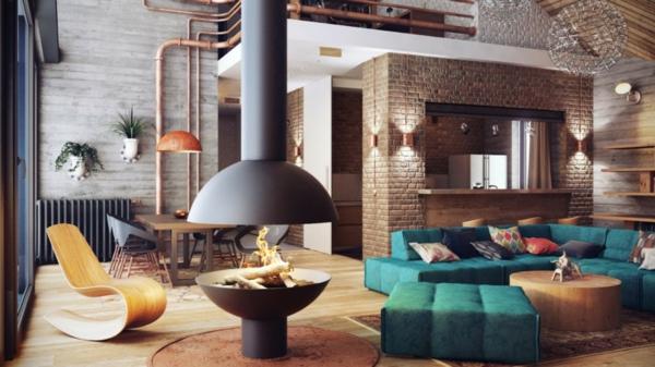 tolle wandgestaltung mit farbe - 100 wand streichen ideen, Wohnzimmer