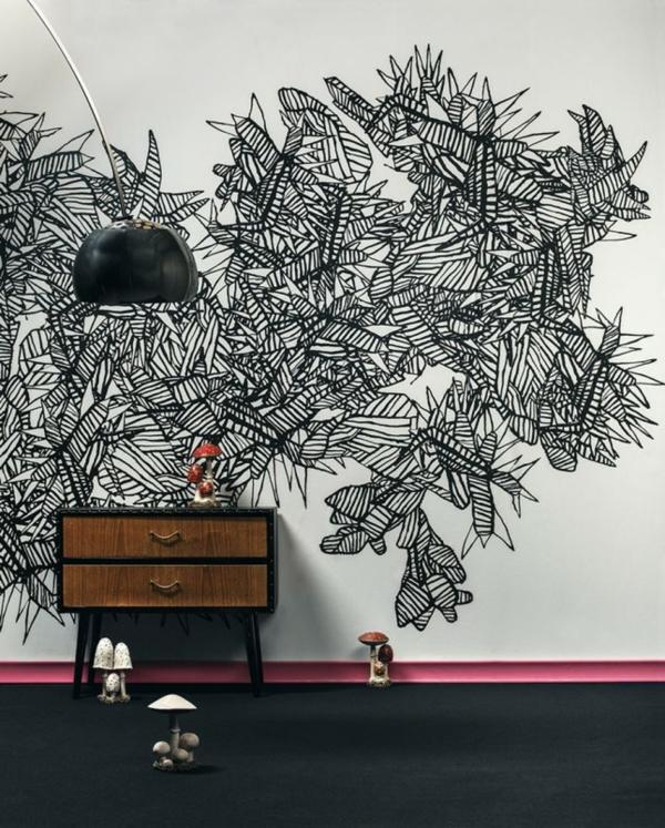 Wandgestaltung Ideen Streichen : Tolle Wandgestaltung mit Farbe  100 Wand streichen Ideen