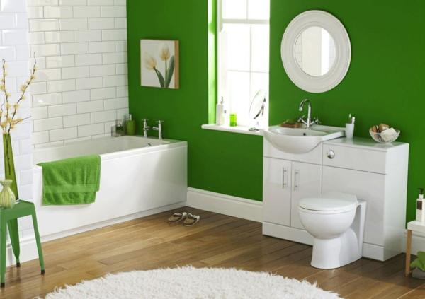 Wandgestaltung mit Farbe wand streichen ideen dunkel grün