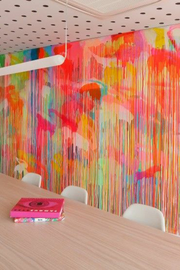 Tolle wanddeko mit Farbe wand streichen ideen farbpalette