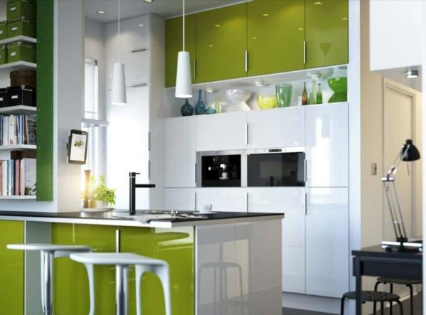 Wandgestaltung Farbe wand streichen ideen frisch küche