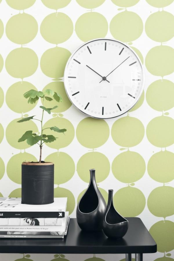 Tolle Wandgestaltung mit Farbe wand streichen ideen grün punkte