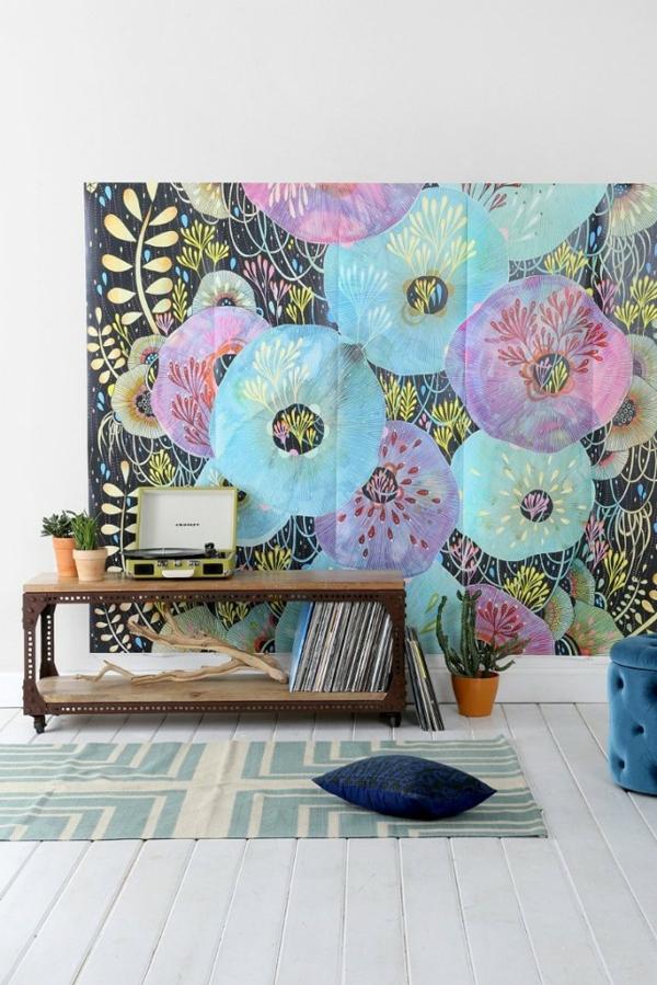 Tolle Wandgestaltung-mit Farbe wand streichen ideen magisch figuren