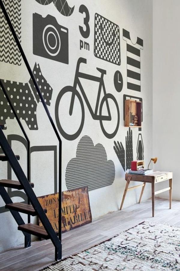 Tolle Wandgestaltung mit Farbe wand streichen ideen muster