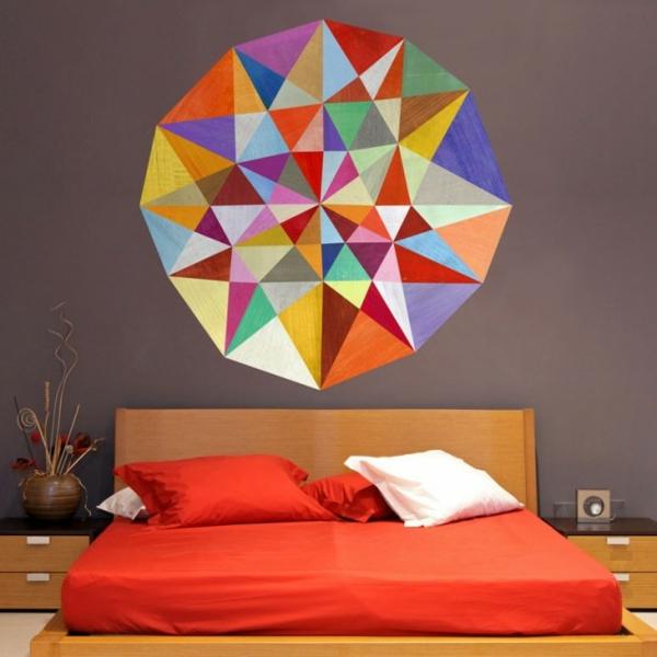 Tolle Wandgestaltung mit Farbe wand streichen ideen schlafzimmer