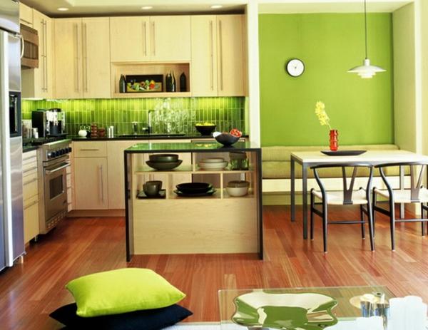 grüne frische Wandgestaltung mit Farbe wandfarben ideen