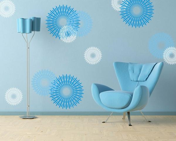 feurwerke Wandgestaltung mit Farbe wandfarben ideen