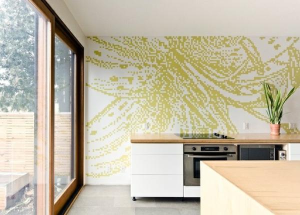 wandgestaltung mit farbe in der küche: ideen f?r wandgestaltung in, Deko ideen