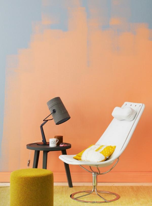Tolle Wandgestaltung mit Farbe wandfarben ideen herrlich orange