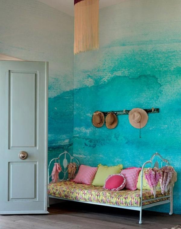 Tolle Wandgestaltung mit Farbe wandfarben ideen kühn