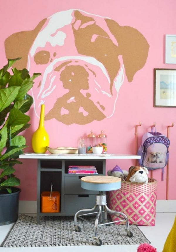 Tolle Wandgestaltung mit Farbe wandfarben ideen rosa