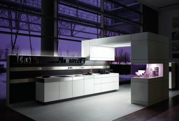 Tolle Wandgestaltung Farbe wandfarben ideen violett