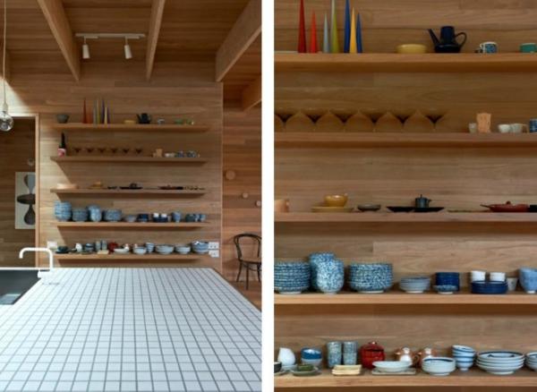 Tolle Wandregale in Braun  küche esszimmer