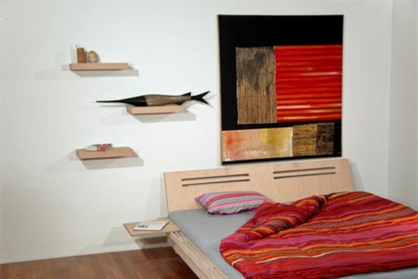 Tolle Wandregale in Braun schlafzimmer dekorativ