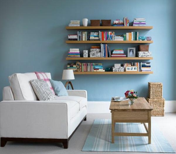 weiß polstermöbel Wandregale Braun sofa leseecke