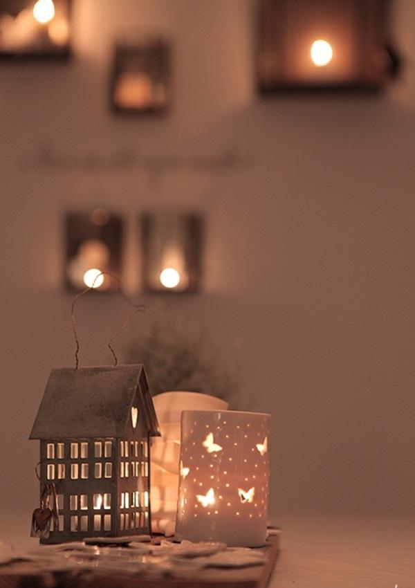 Weihnachtsbeleuchtung und LED Lichterketten für Innen häuschen