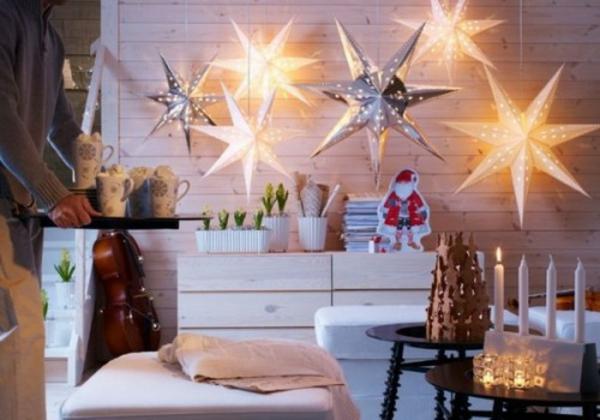 familien feiertage winter LED Lichterketten für Innen sterne groß