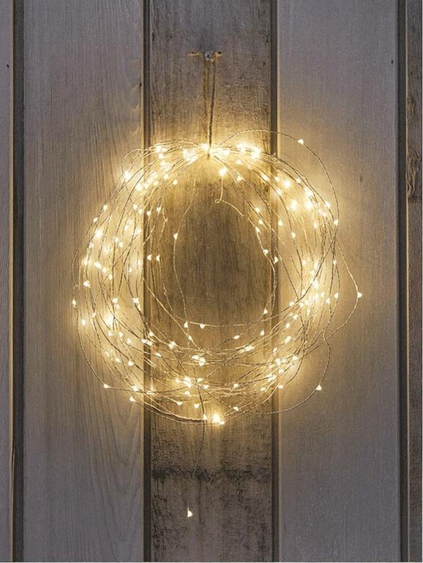 Weihnachtsbeleuchtung LED Lichterketten für Innen türkranz