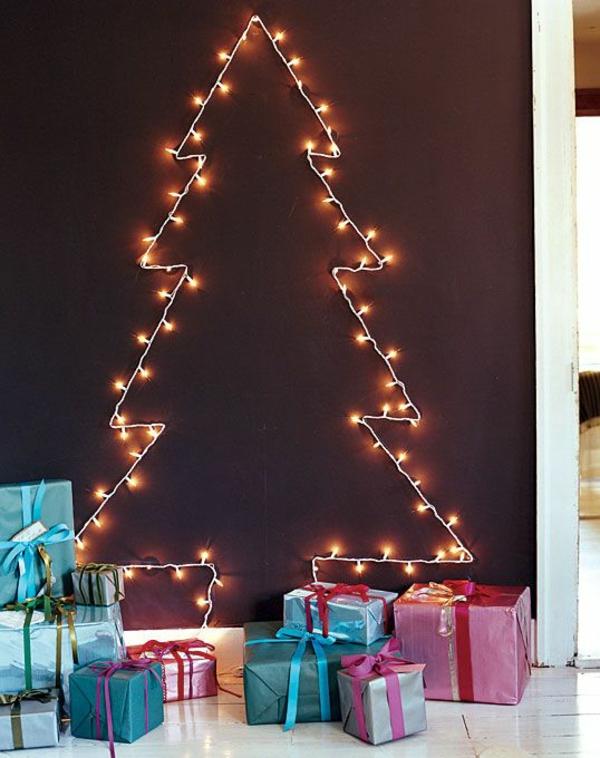 Weihnachtsbeleuchtung Lichterketten für Innen wand
