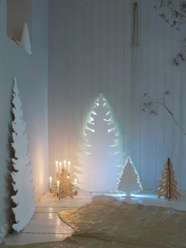 Weihnachtsbeleuchtung indirektes licht Lichterketten Innen weiß märchen