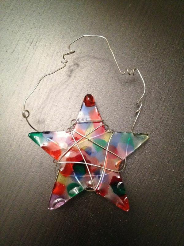 Weihnachtssterne aufhängen basteln vorlagen kinder farben