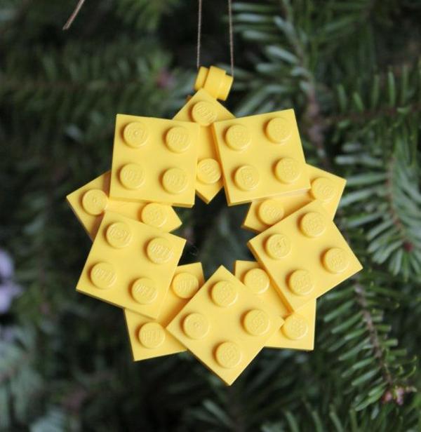 Weihnachtssterne basteln vorlagen kinder gelb lego