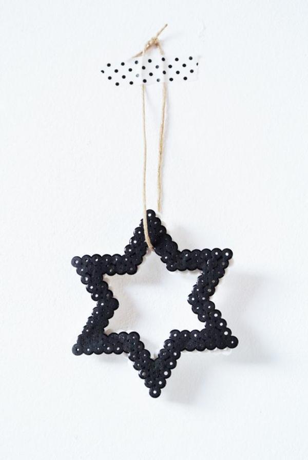 Weihnachtssterne seil klebeband tupfen basteln vorlagen kinder hängend